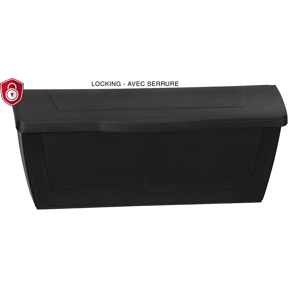 PRO-DF Economic Locking Mailbox, Black