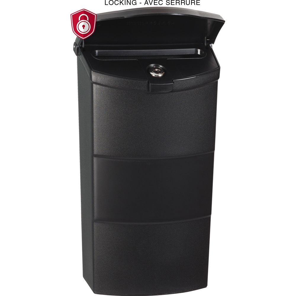 Economic Vertical Locking Mailbox, Black
