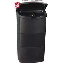 PRO-DF Economic Vertical Locking Mailbox, Black
