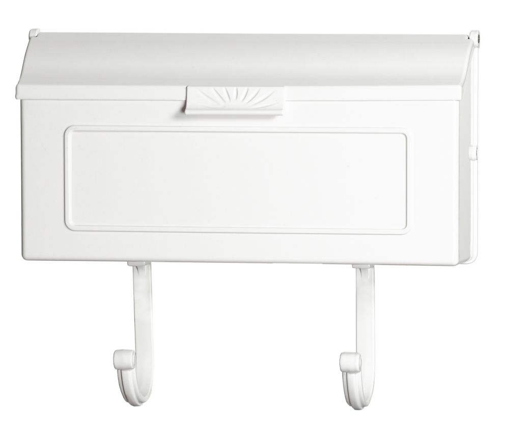 Classic Aluminum Wall Mount Mailbox, White