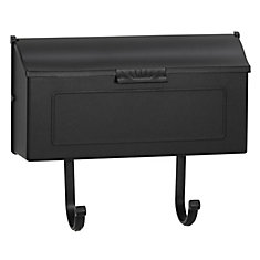 Classic Aluminum Wall Mount Mailbox in Black