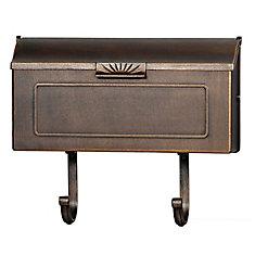 Classic Aluminum Wall Mount Mailbox, Antique Bronze