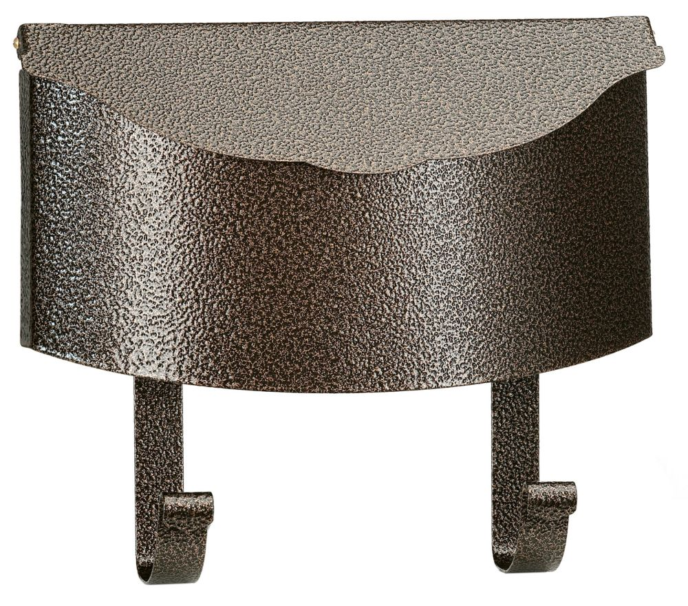 Antique Wall Mount Steel Mailbox, Granit Gold