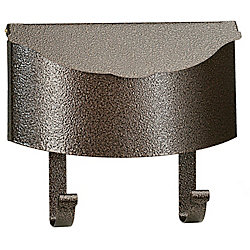PRO-DF Antique Wall Mount Steel Mailbox, Granit Gold
