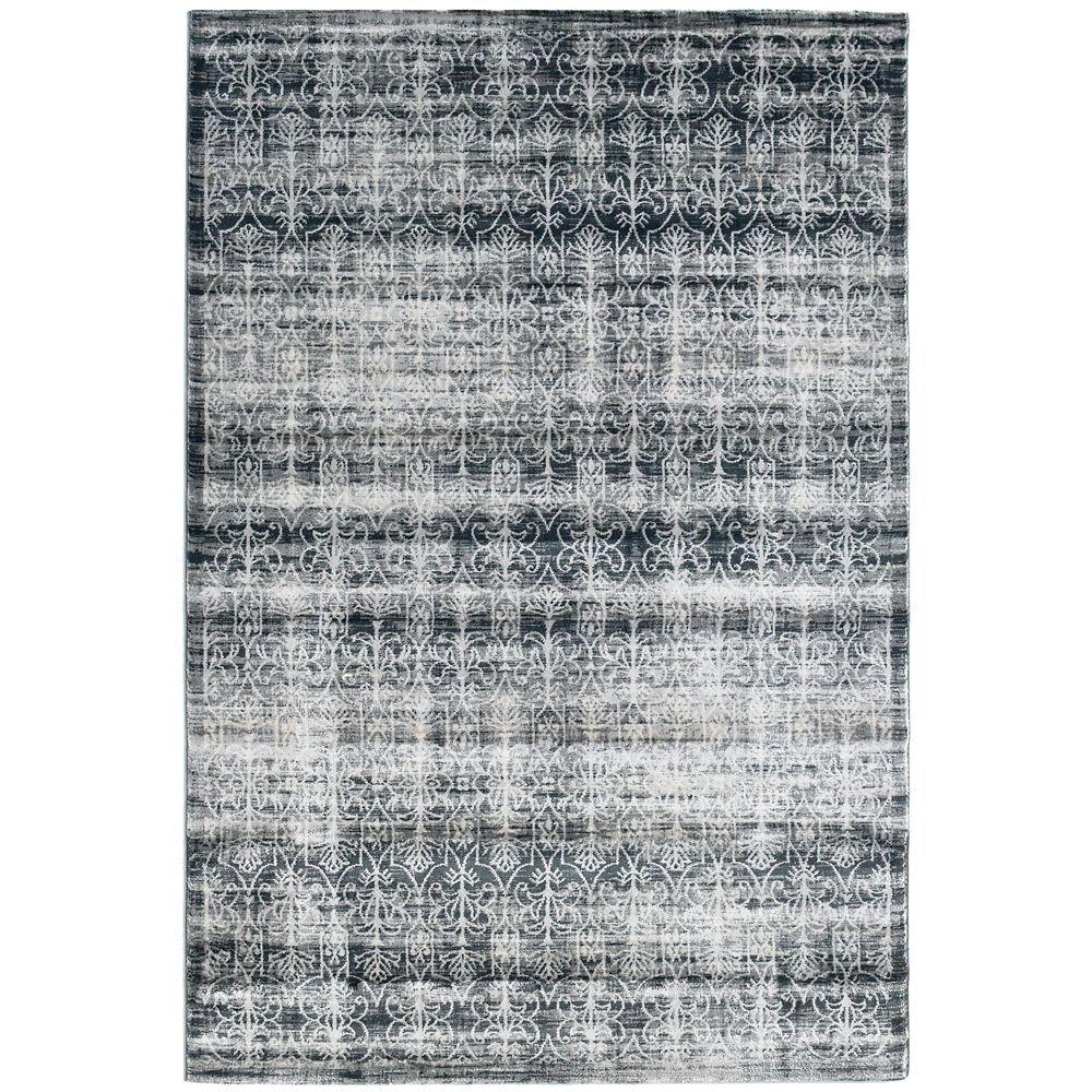 Silver Vestiges 5 Feet x 7 Feet 6 Inches Area Rug