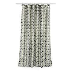 Metro Geometric Chevron Fabric Shower Curtain Liner Ring Set (14 pieces) Green/Grey/Linen Beige