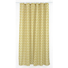 Metro Geometric Chevron Fabric Shower Curtain Liner Ring Set 14 Pieces Golden Yellow