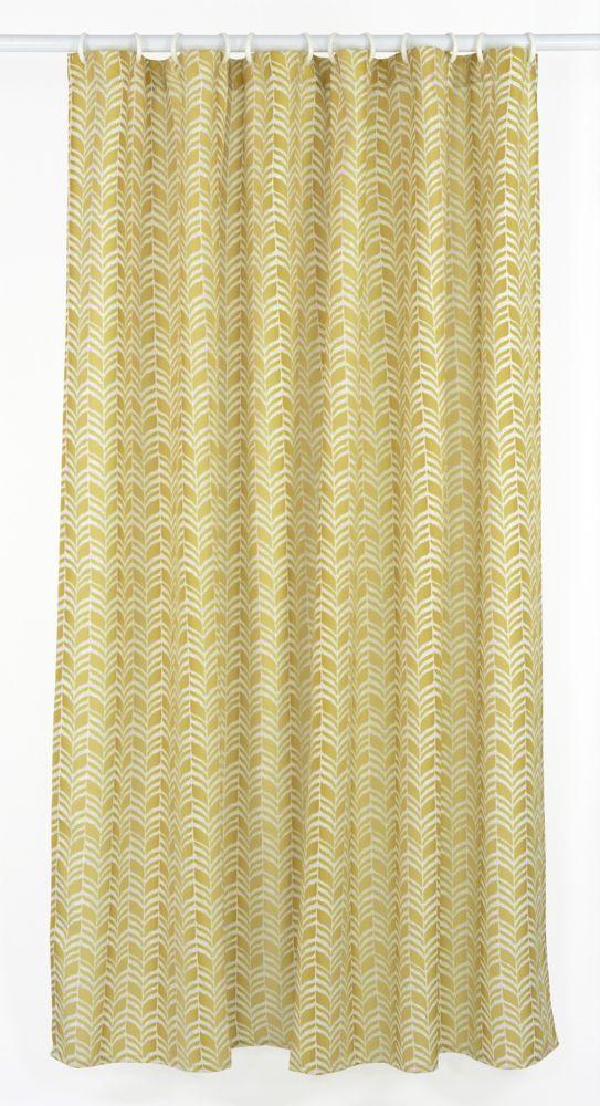 Metro 14-Piece Shower Curtain Set, Gold/Yellow