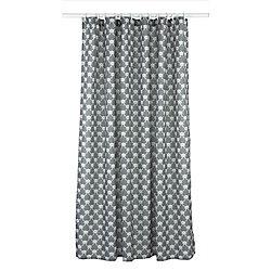LJ Home Fashions Manhattan ensemble de rideau de douche à motif géométrique (14 pièces), gris fonce/blanc