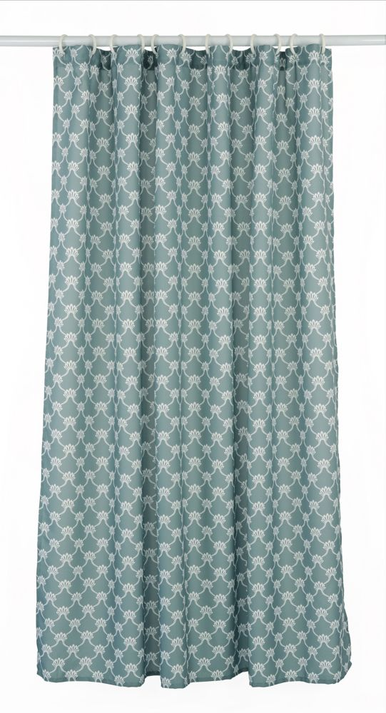 LJ Home Fashions Manhattan Geometric Fabric Shower Curtain Liner
