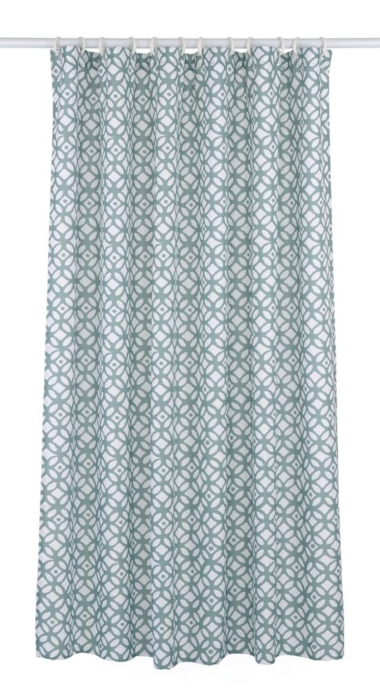 LJ Home Fashions Madison 14 Piece Shower Curtain Set Teal