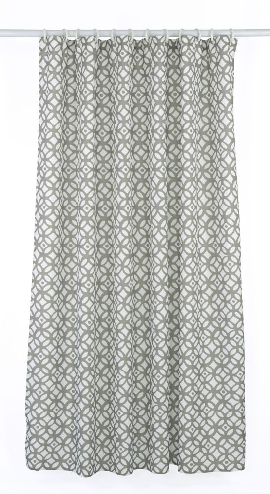 Madison 14-Piece Shower Curtain Set, Taupe/White