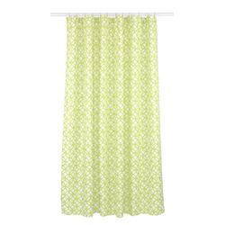 LJ Home Fashions Madison Geometric Fabric Shower Curtain Liner Ring