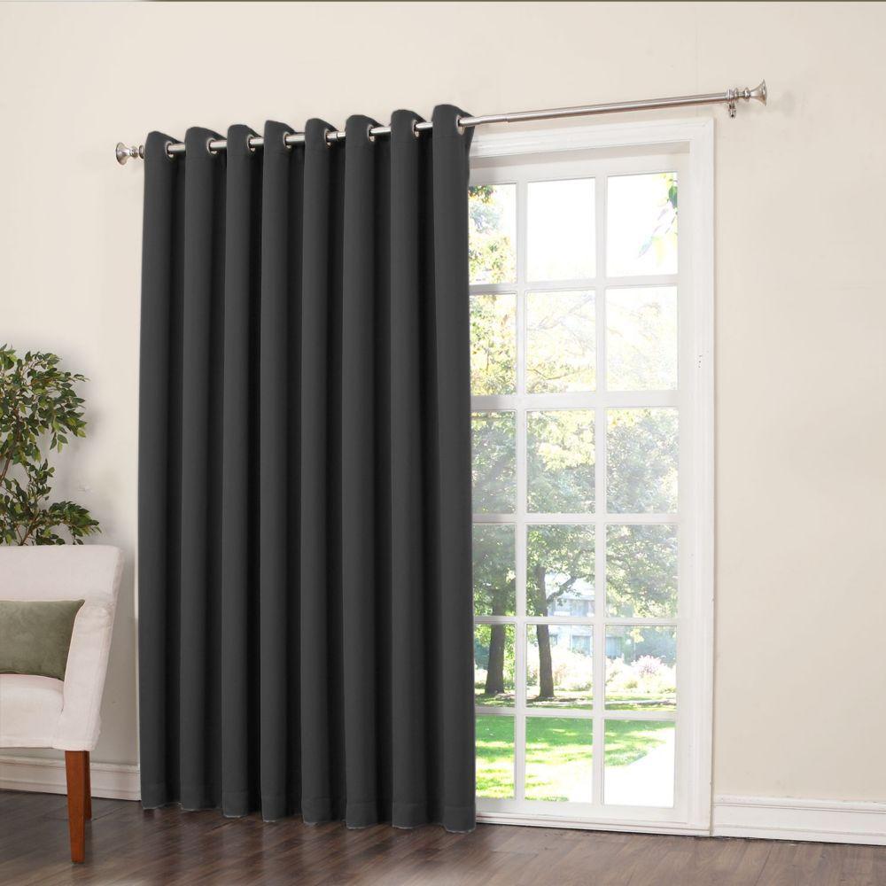 Griffin Grommet Room Darkening 100 Inch X 84 Inch Black Panel