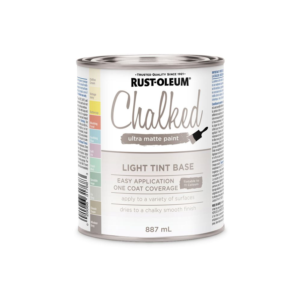Rust-Oleum Chalk Paint Light Tint Base