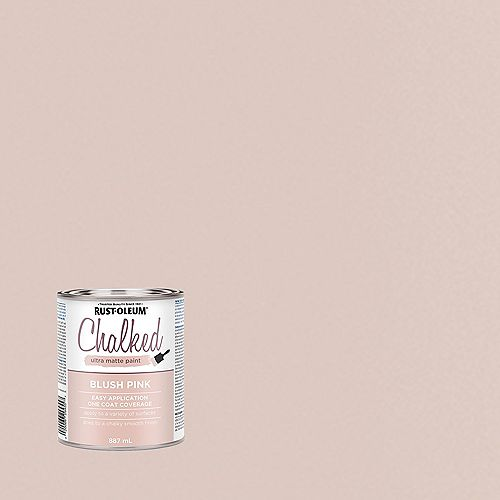 Rust-Oleum Chalked Ultra Matte Paint In Blush Pink, 887 Ml
