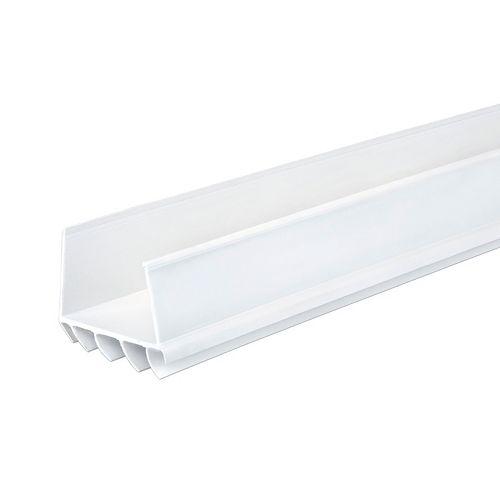 M-D Building Products 36po Bas de porte coulissant en U et en vinyle de CINCH - Blanc