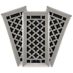 Hampton Bay Registre de plancher Designer en acier à motifs quadrilobés, nickel brossé (paquet de 3)