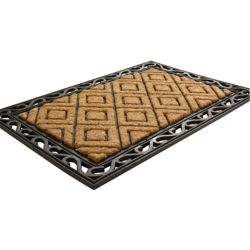 Home Decorators Collection Diamond Beige and Tan 2 ft. x 3 ft.  Indoor/Outdoor Rectangular Coir Door Mat