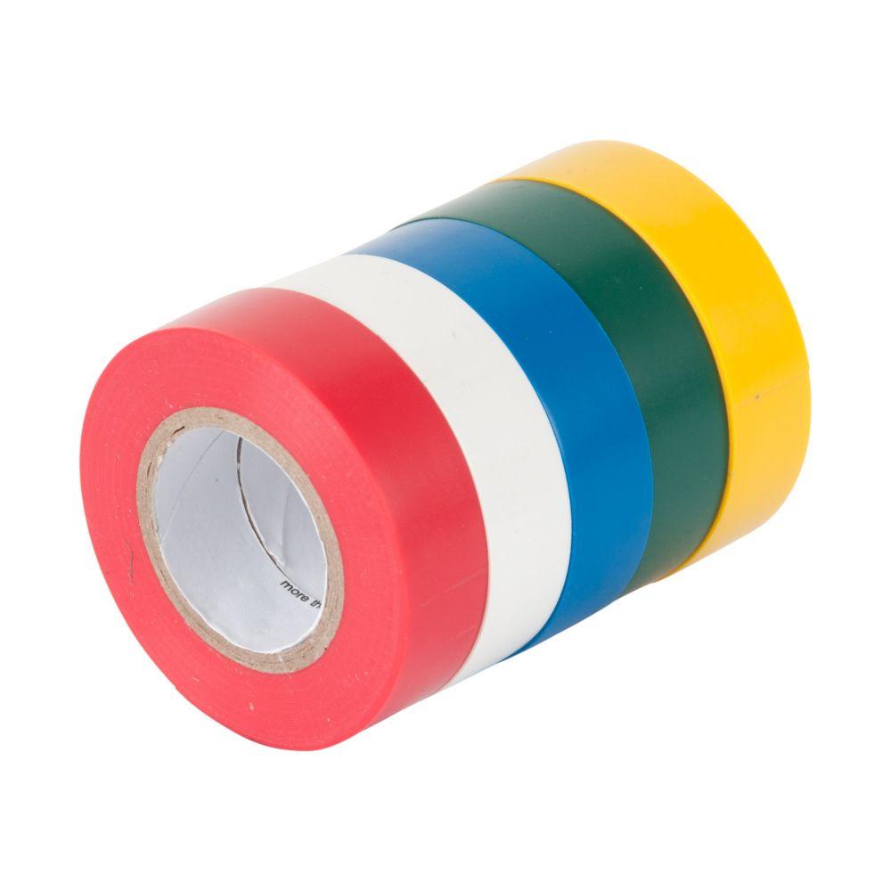 Gardner Bender 1/2-inch x 20 ft. Coloured Electrical Tape (5-Pack)