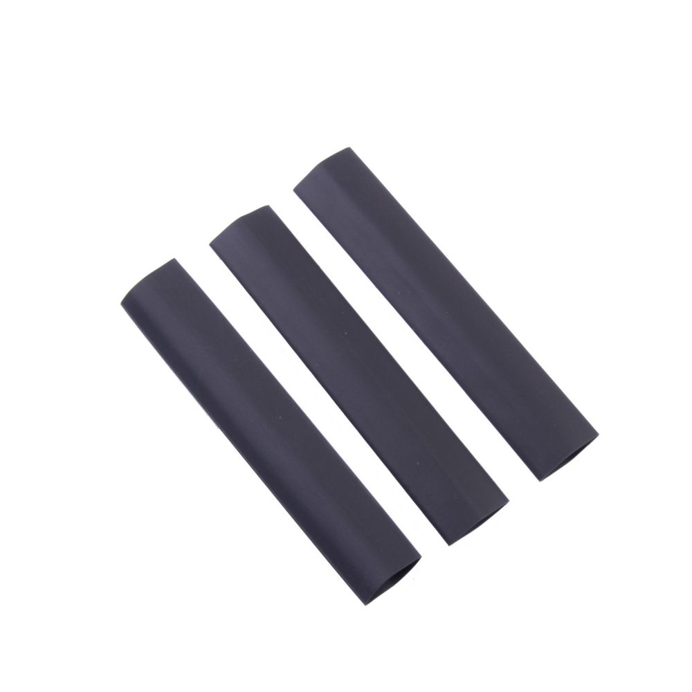Heat Shrink Tubing, 1/2 Inch - 1/4 Inch, Black, 3 Inch, 3/Clam