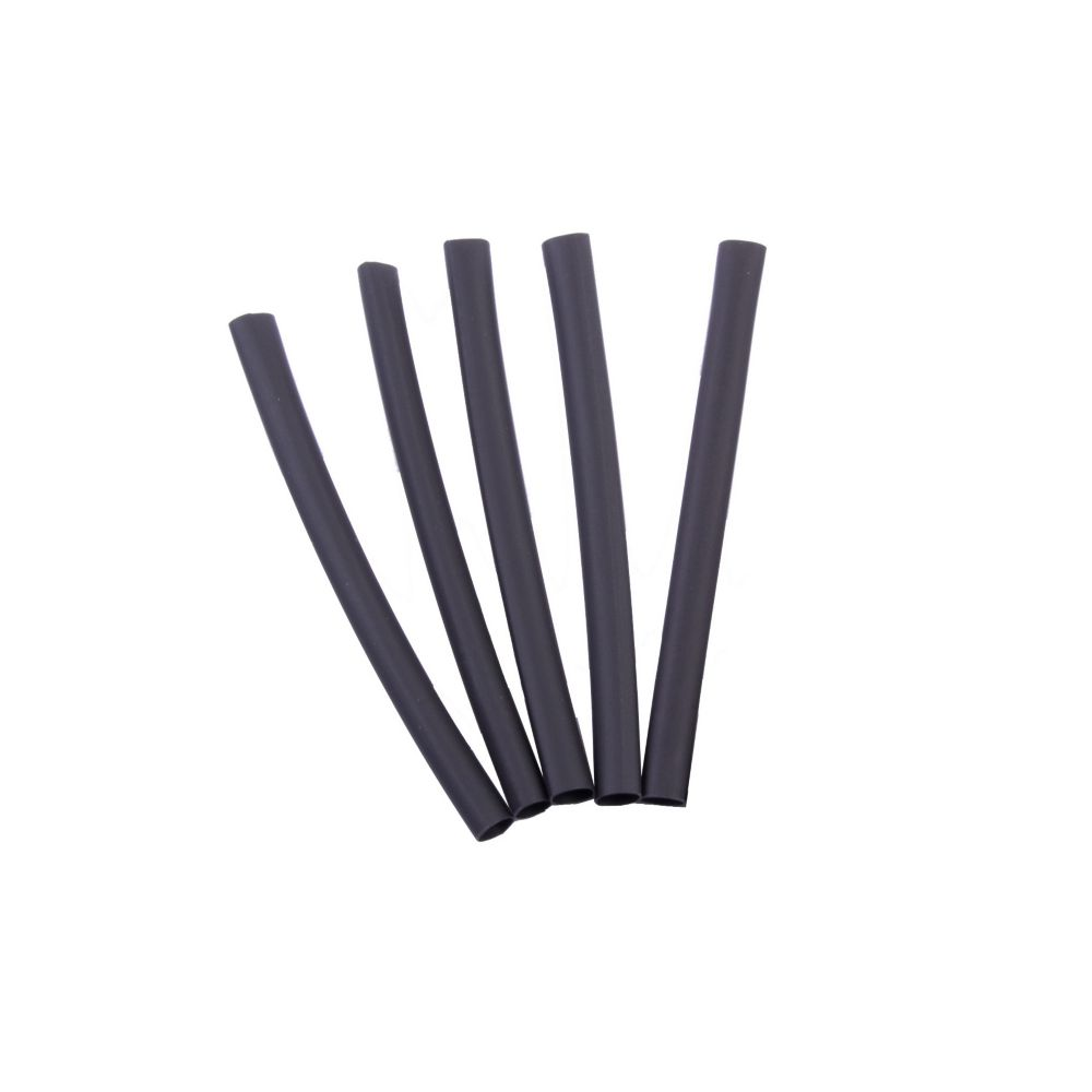 Heat Shrink Tubing, 1/4 Inch - 1/8 Inch, Black, 3 Inch, 5/Clam