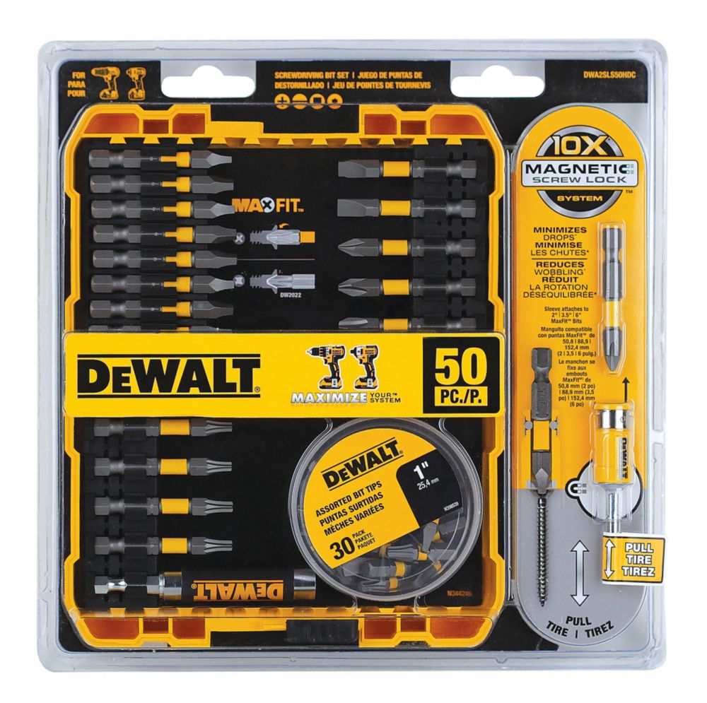 50-Piece Max Fit Screw Driving Accessory Set