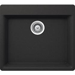 GLACIER BAY GB Kitchen Sink 1 Bowl Dual Mnt Onyx