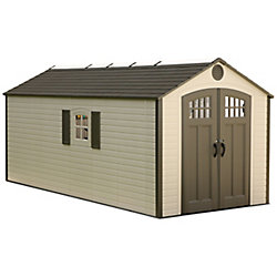 Lifetime 8 ft. x 17.5 ft. Plastic Storage Shed
