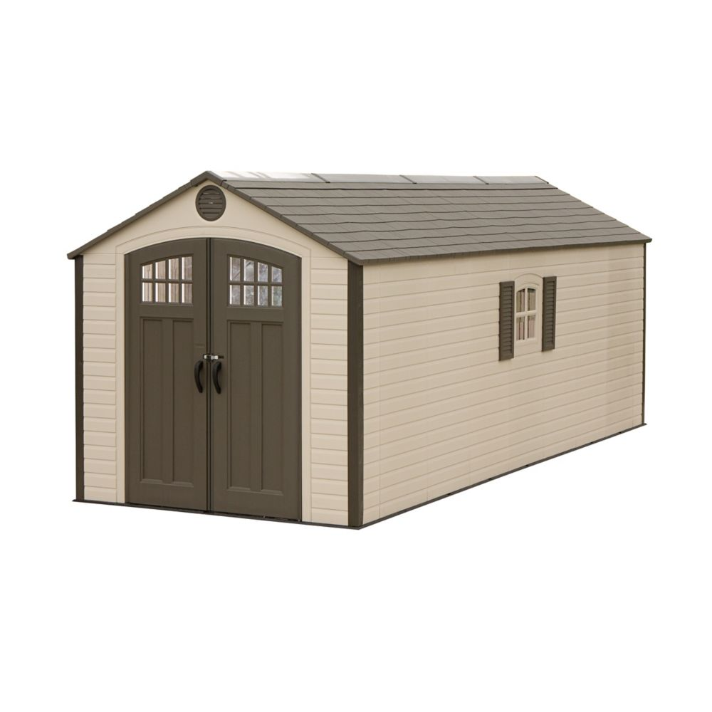 home sheds peak en grey a p x shed storage style ft in box shelterlogic