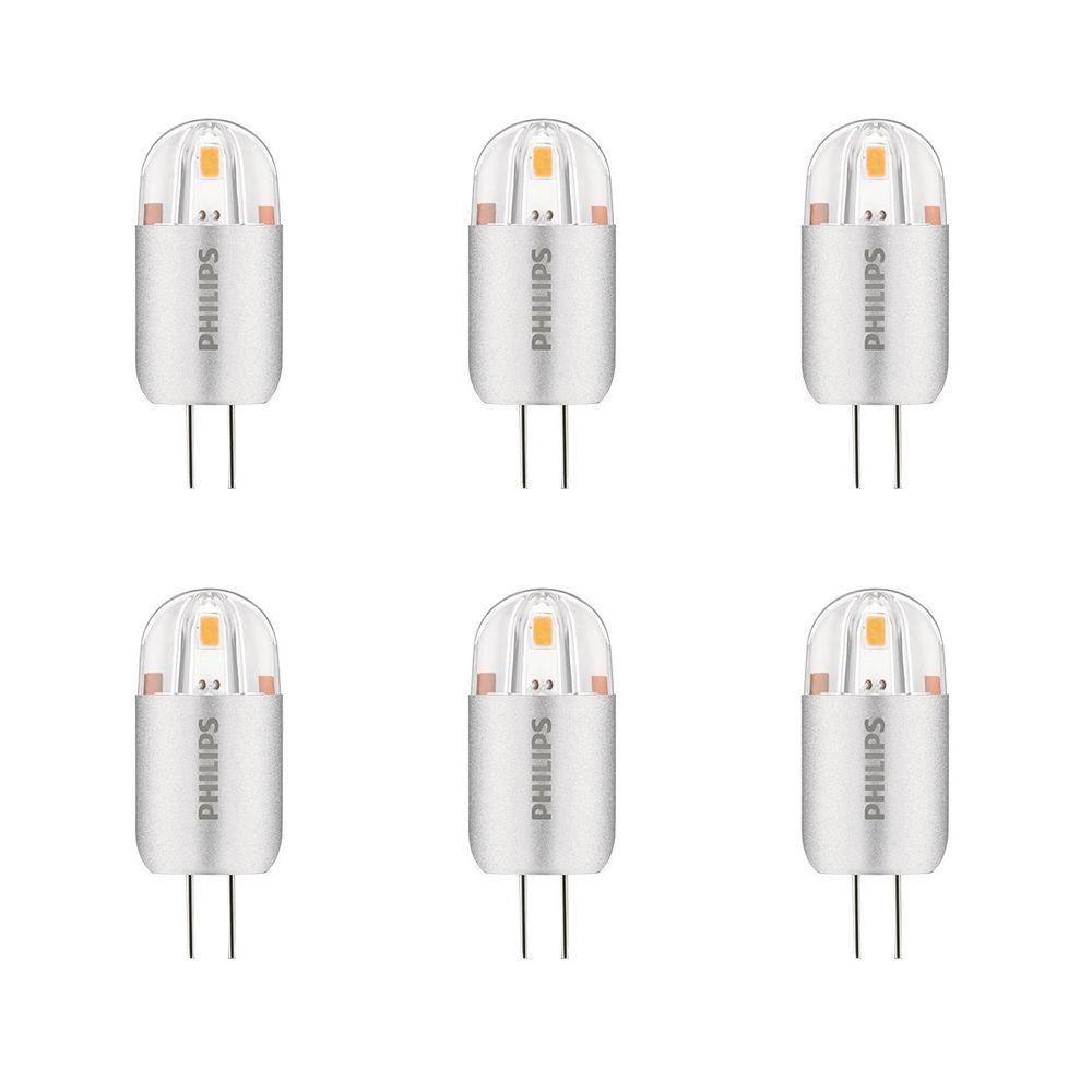 DEL 1,2 W = 10 W G4 Capsule Lumière blanc brillant Non-gradable (3000K) - Cas de 6 Ampoules