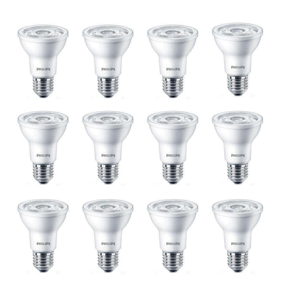 LED 6W = 50W PAR20 Daylight (5000K) - Case Of 12 Bulbs - ENERGY STAR®