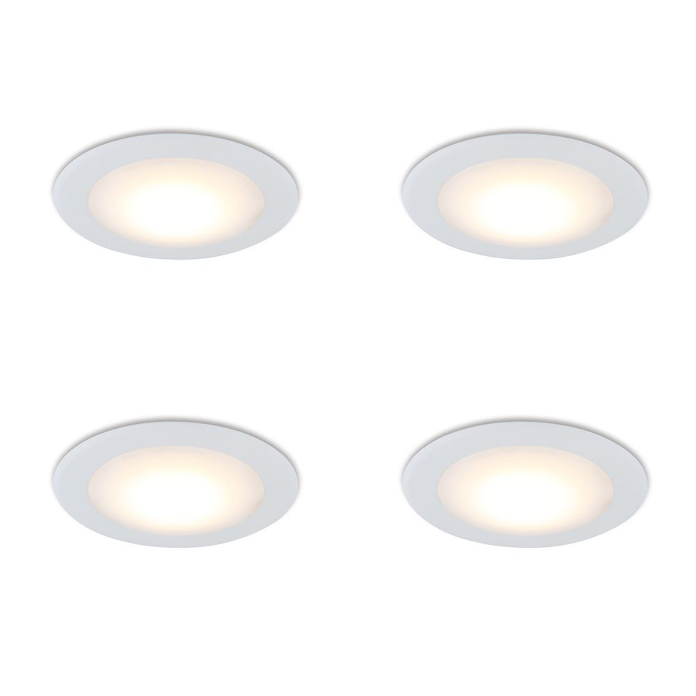 LED 13W = 75W Flush Mount Fixture Soft White (2700K) - Case Of 4 Flush Mount Fixtures