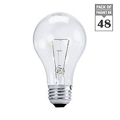 Incandescent 40W A19 Clear - Case Of 48 Bulbs