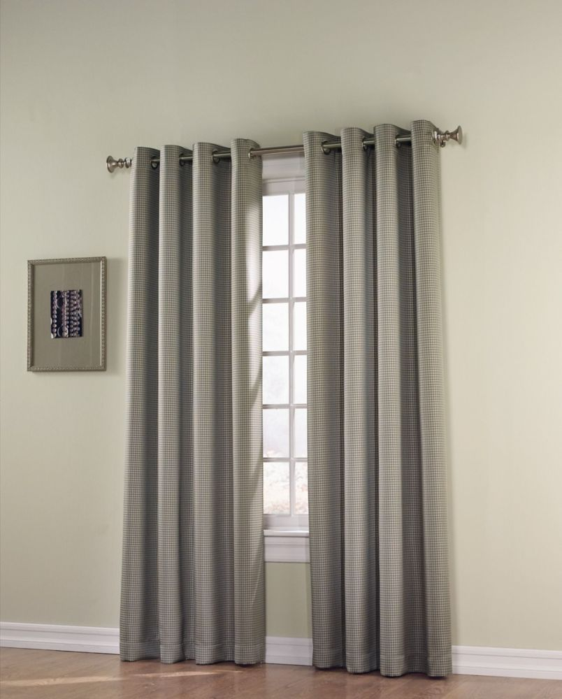 curtain polyester panel hidden curtains window michelle blocking with blue tabs light blackout