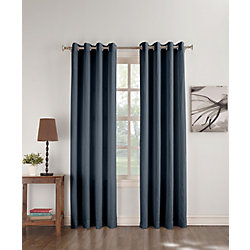 918 Maurice Grommet Microfibre 50 Inch X 84 Inch Navy