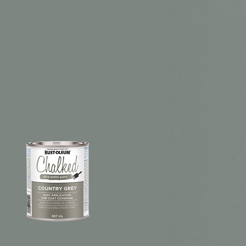 rustoleum chalk paint country grey the home depot canada. Black Bedroom Furniture Sets. Home Design Ideas