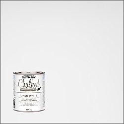 Rust-Oleum Chalked 887 mL Ultra Matte Paint in Linen White