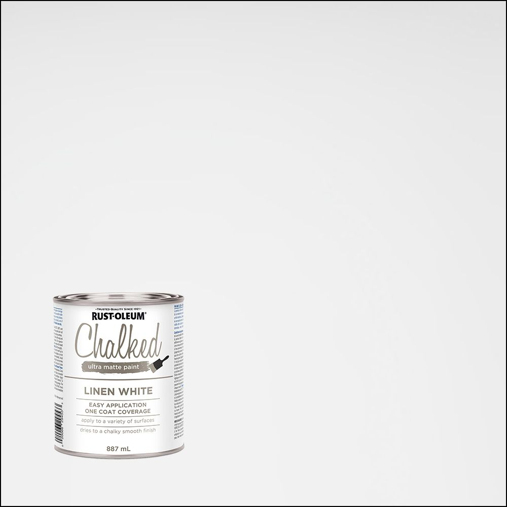 Rust-Oleum Chalked 887 mL Ultra Matte Paint in Linen White