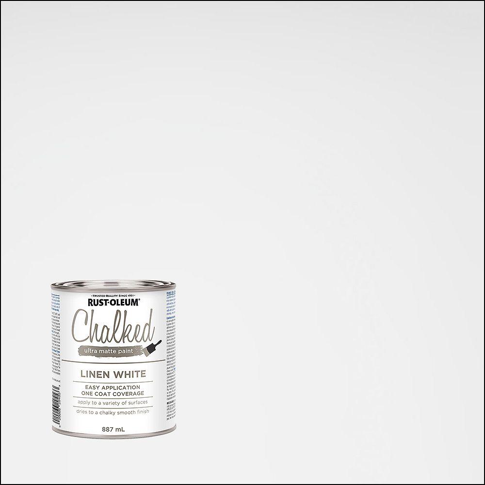 Rust-Oleum Chalked Ultra Matte Paint In Linen White, 887 Ml