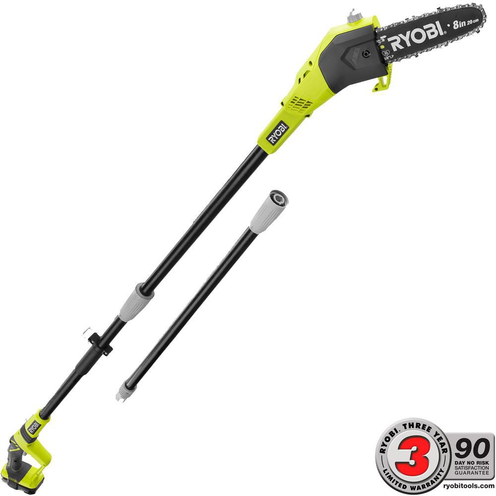 18V ONE+� 9 1/2 ft. Lithium-Ion Cordless Pole Saw with 8-inch Blade
