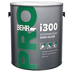 Behr pro behr pro i300 series interior paint semi gloss for Where is behr paint sold