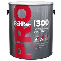 Behr Pro BEHR PRO Série i300, Peinture intérieure mat absolu - Base foncée, 3,79 L