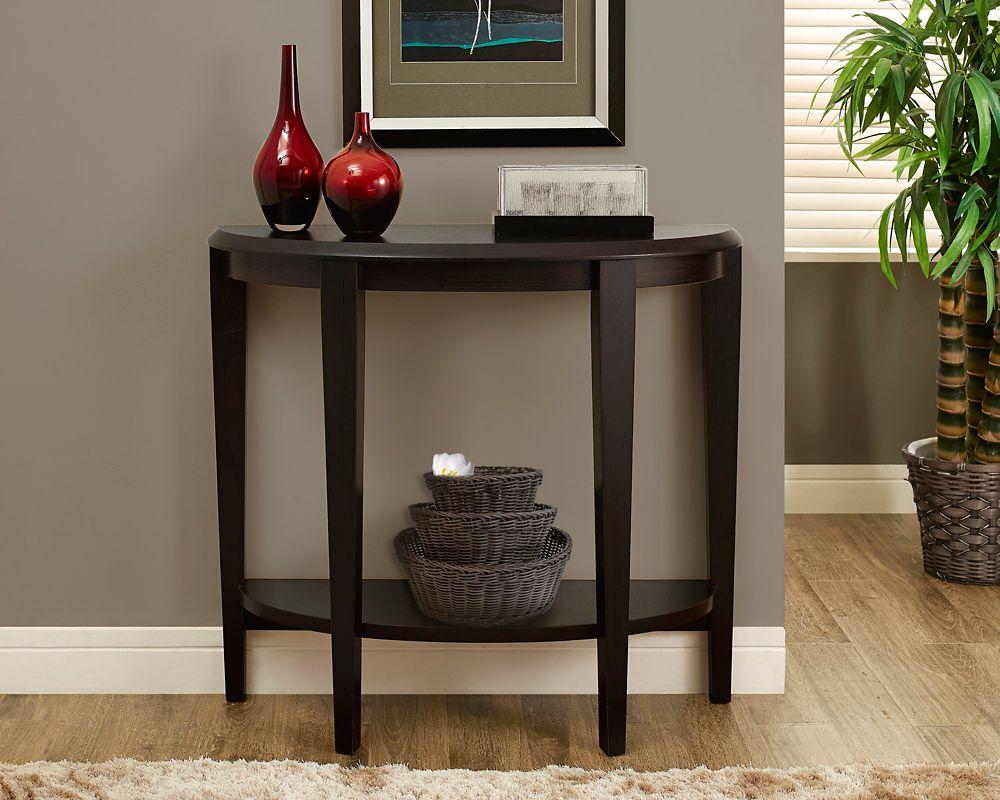 "Cappuccino 36""L Hall Console Accent Table"