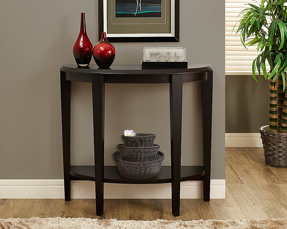 Enjoyable Cappuccino 36L Hall Console Accent Table Interior Design Ideas Inesswwsoteloinfo