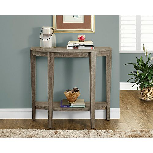 """Monarch Specialties Dark Taupe Reclaimed-Look 36""""L Console Accent Table"""