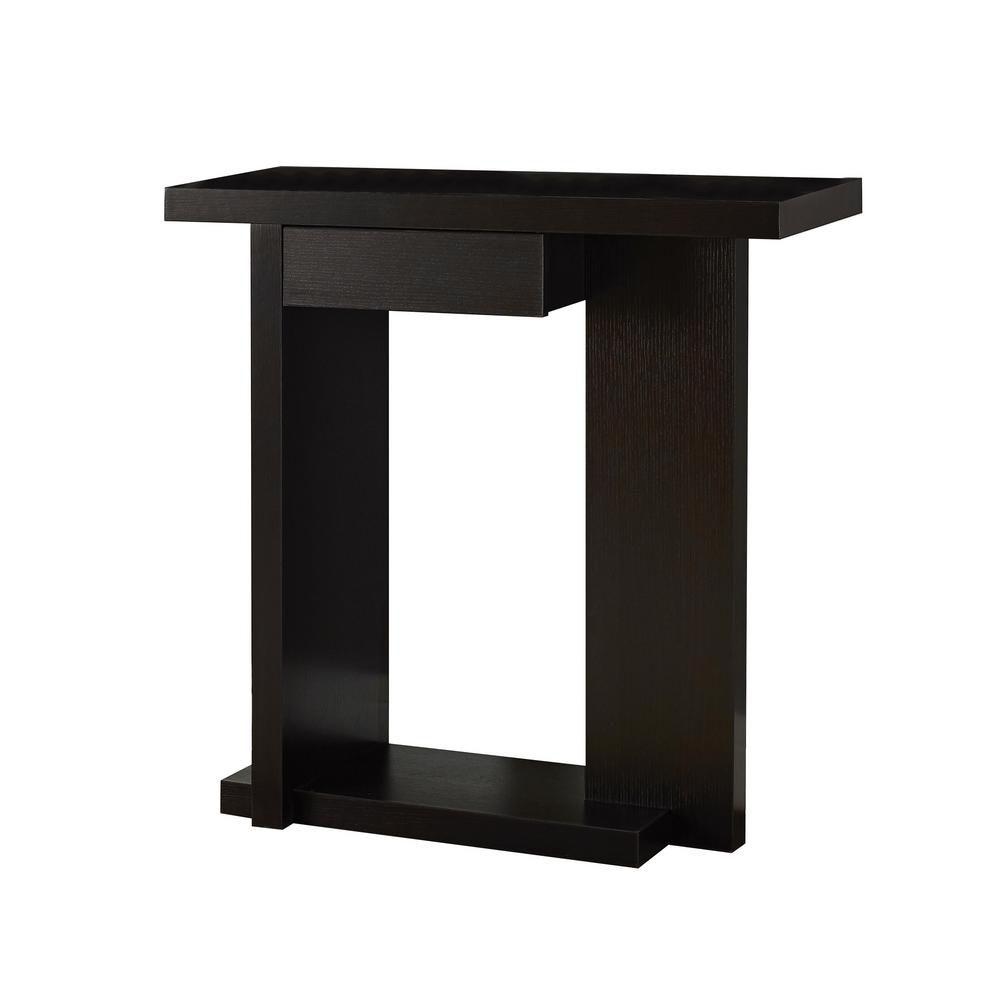"Cappuccino 32""L Hall Console Accent Table"