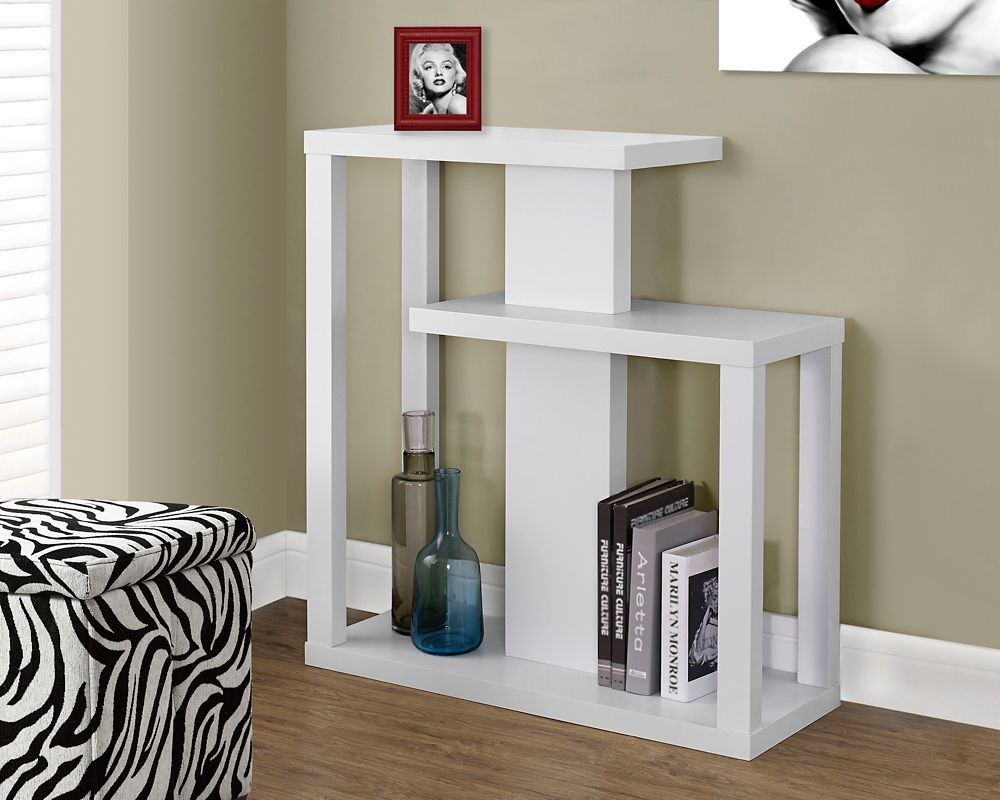 "White 32""L Hall Console Accent Table"