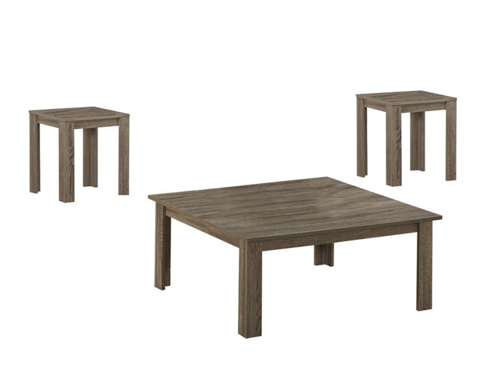 Ens. De Tables - 3Pcs / Taupe Fonce