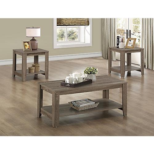 Table Set - 3-Piece Set / Dark Taupe